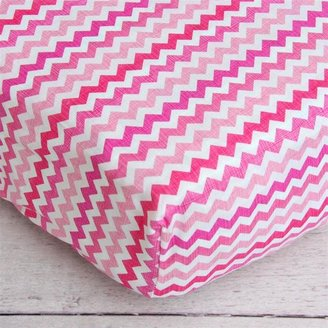 Fitted Crib Sheet Pink Chevron
