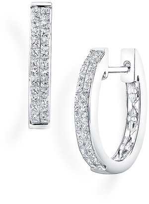 Nordstrom Bony Levy 'Classic' Diamond Hoop Earrings Exclusive)
