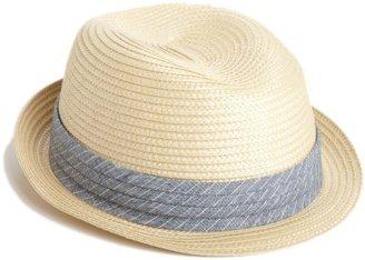 Ben Sherman Men's Sewn Braid Straw Trilby Hat