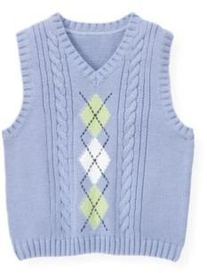 Janie and Jack Argyle Cable Sweater Vest