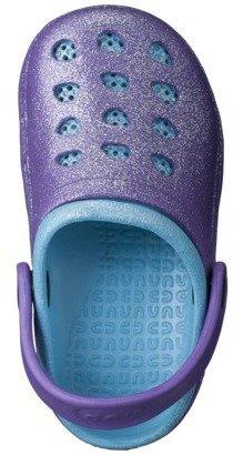 Toddler Girl's Allover Glitter Clogs - Purple