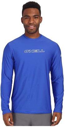 O'Neill Basic Skins L/S Rash Tee (Pacific) Men's Swimwear