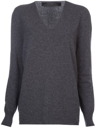 The Row oversized v-neck sweater