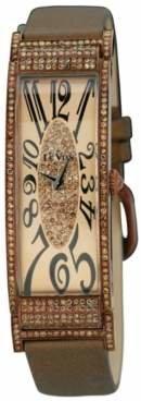 LeVian Le Vian Watch, Women's Deco Estate Diamond (2-3/8 ct. t.w.) Brown Satin Strap 20x56mm