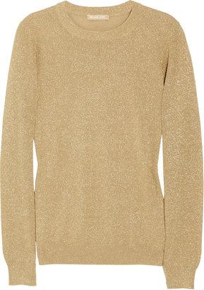 Michael Kors Metallic knitted sweater