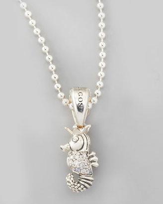 Lagos Rare Wonders Diamond Seahorse Pendant Necklace