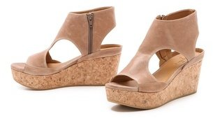 Coclico Mosaic Cork Wedge Sandals