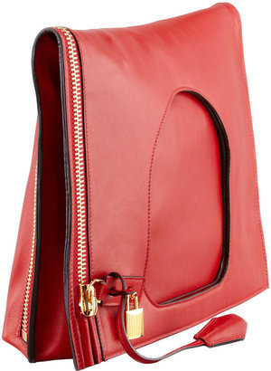 Tom Ford Alix Leather Padlock & Zip Shoulder Bag