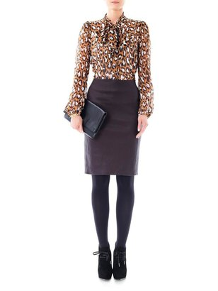 Diane von Furstenberg Marta stretch-leather skirt