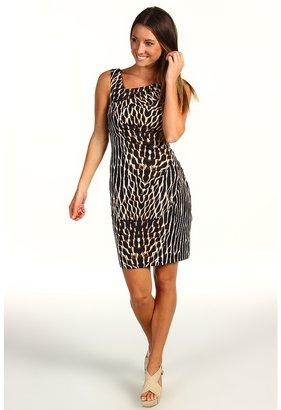 Vince Camuto Animal Print Asymmetrical Dress VC2P1452 (Multi) - Apparel