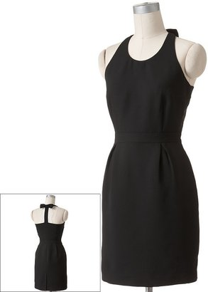 Lauren Conrad solid lace-trim dress