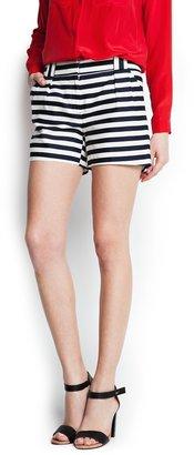 MANGO Striped shorts
