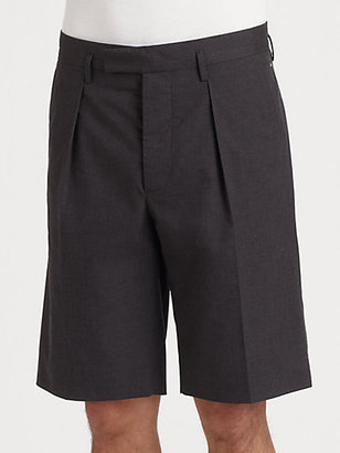 Marni Pleated Twill Shorts