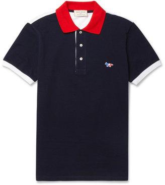 Kitsune Maison Cotton-Piqué Polo Shirt