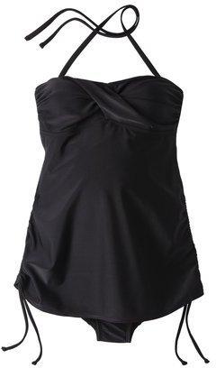 Liz Lange for Target® Maternity Twist-Front One-Piece Swimsuit - Black