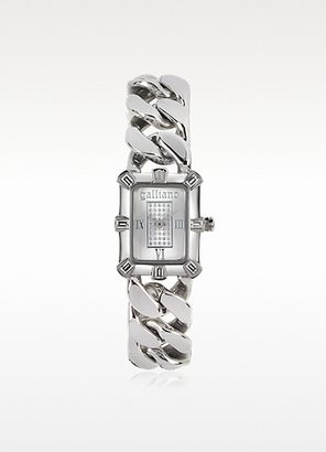 John Galliano Silver-tone Stainless Steel Women's Watch
