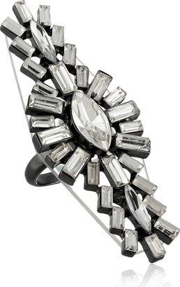 Erickson Beamon Rocks Hematite Crystal North South Ring Size 7