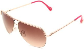 Jessica Simpson Women's J554 GLDPK Aviator Sunglasses