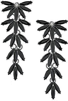 Topshop Leaf Stone Drop Earrings