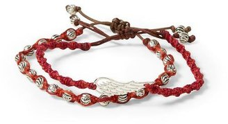 Chan Luu Red Mix Wing and Bead Friendship Set Bracelets