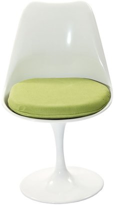 Modway Eero Saarinen Style Tulip Dining Chair with Green Cushion