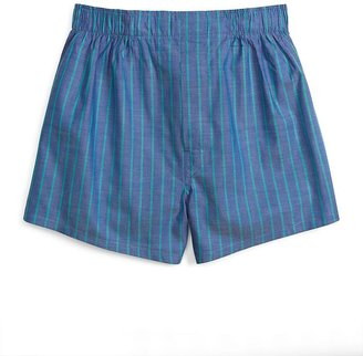 Brooks Brothers Blue and Green Ground Stripe Boxers