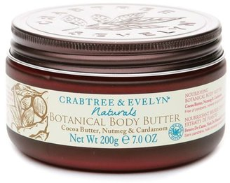 Crabtree & Evelyn Naturals Botanical Body Butter, Cocoa Butter, Nutmeg & Cardamom 7 oz
