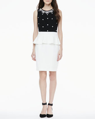 Cynthia Steffe Coco Beaded Peplum Dress