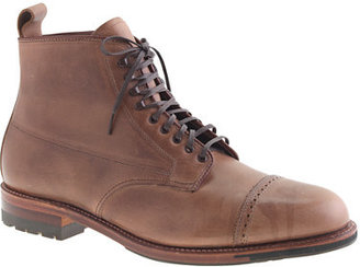 Alden for J.Crew natural cap toe boots