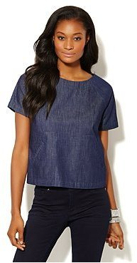 New York & Co. T-Body Denim Top