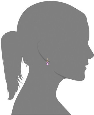 Bronzarte Amethyst Oval Drop Earrings (11 ct. t.w.) in 18k Rose Gold over Bronze