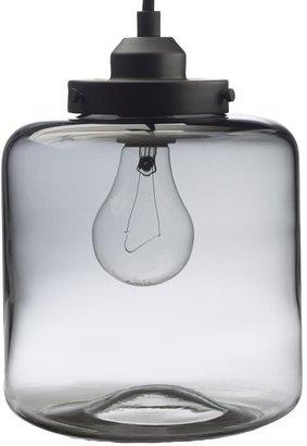 west elm Glass Jar Pendant - Clear