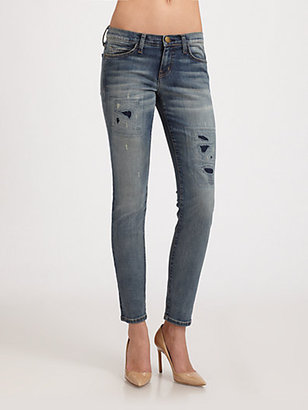 Current/Elliott The Ankle Skinny Jeans/Pixie Repair