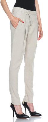 Helmut Lang Noa Viscose-Blend Suiting Trouser in Tan