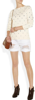 MiH Jeans Star-print cotton-jersey top