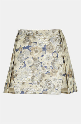 Topshop Floral Jacquard Skirt