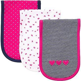 Carter's 3-pk. Navy Butterfly Burp Cloths - Girls