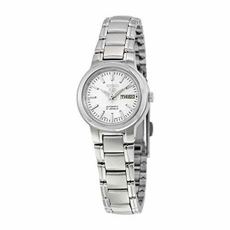 Seiko Women's SYME39K1 5 Automatic Light Dial Stainless Steel Watch