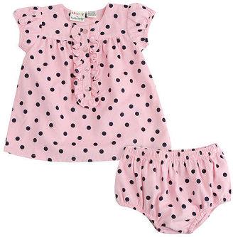 Babies 'R' Us Babies R Us Cynthia Rowley Baby-Soft Girls Corduroy Polka Dot Dress Set - Pink (0-3 Months)