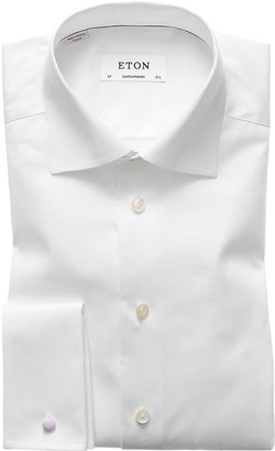 Eton White French Cuff Shirt - Contemporary Fit