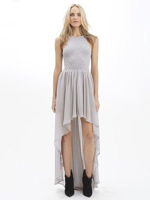 Torn By Ronny Kobo Renea Knit Chiffon Dress