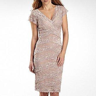 JCPenney Lace Shutter-Pleat Dress - Petites