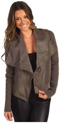 Joie Jevon Feather Leather Jacket (Smokey) - Apparel