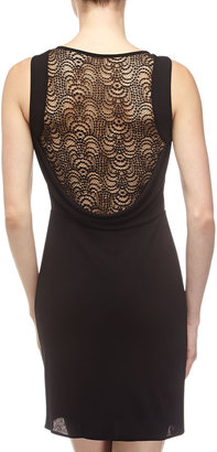 BCBGMAXAZRIA Jessalyn Lace-Back Dress, Black