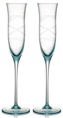 Nambe 'Motus' Crystal Champagne Flutes (Set of 2)