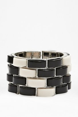 French Connection Graphic Stretch Bracelet