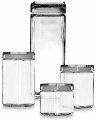 Anchor Hocking 1-Quart Stackable Square Canister