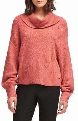 DKNY Textured Cowlneck Sweater