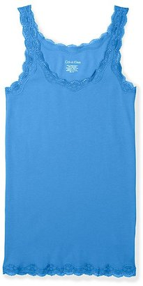Calvin Klein Lace Trim Scoopneck Tank Top