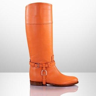 Ralph Lauren Sage Vachetta Riding Boot